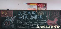 """团委、xue生科联合kai展班级""""黑板bao""""评比活dong"""